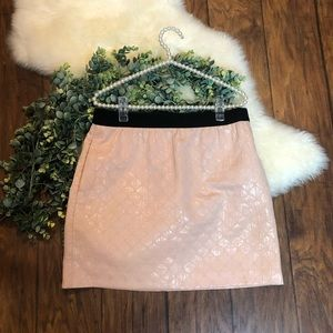 Ann Taylor Loft pink with black trimming skirt